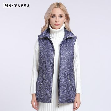 Women Vest Fashion Female Waist Coat Padded Sleeveless Jacket Lady Casual Brand Outerwear Plus Size