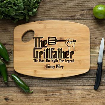 Personalized Handle Grillfather Cutting Board