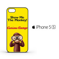 Curious George Funny Monkey Cartoon F0382 iPhone 5 | 5S Case