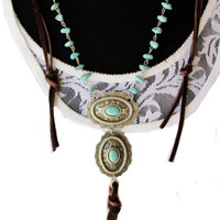Double Concho Long Necklace