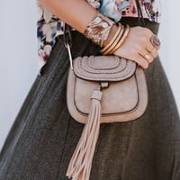 Rosemont Tassel Crossbody - Gray