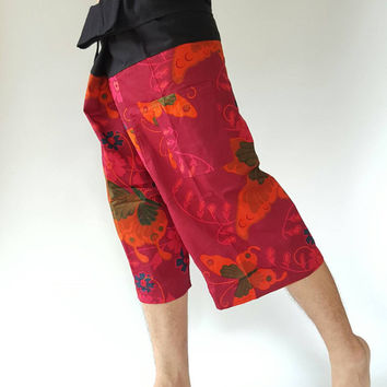 3/4 Thai fisherman/Yoga are pants Free-size: Will fit men or woman
