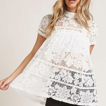 Sheer Lace Babydoll Top