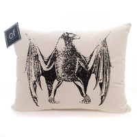 Halloween Macabre Bat Pillow Halloween Accent Pillow