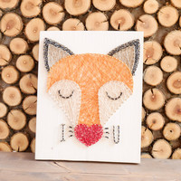 Cute fox wall decor