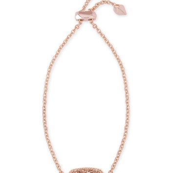 Elaina Rose Gold Adjustable Chain Bracelet | Kendra Scott