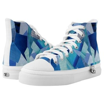 dark and light blue High-Top sneakers