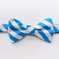 Bow Tie Tuesday Patterned Pretied Bow Tie - Men, Size: One Size (Blue)