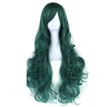 80cm Long Curly Women's Cosplay Wig