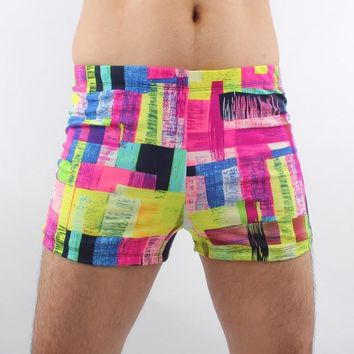 Mens designer swimsuit swimwear Colorful Printed Swim Shorts 2018 New Men Boxer Shorts  Summer Beach Brief Boy Swimming Wear KO_7_1