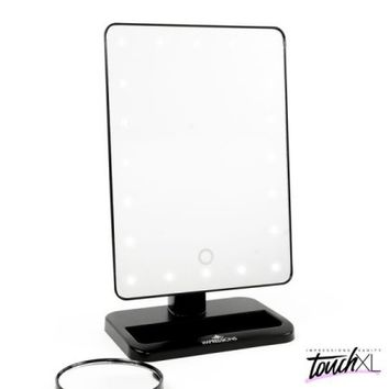 Touch XL Dimmable Makeup Mirror w/ Detachable 5x in Black - Walmart.com