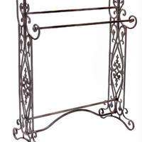 Quilt &towel Rack - Ornate Flourish Accents