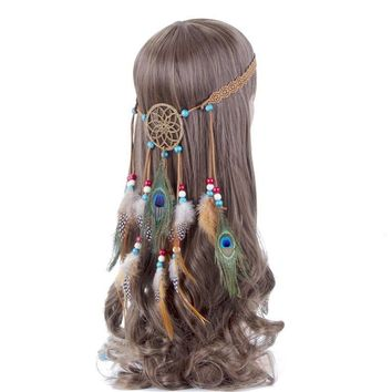 Dream Catcher Feather Headband