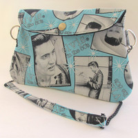 Elvis Presley Clutch Purse with Chain Strap / The King of Rock and Roll