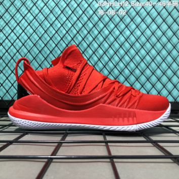 HCXX B304 Under Armour Curry 5 Actual Combat Basketball Shoes Red