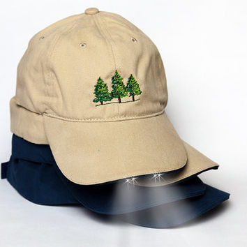 Camping Flashlight Hat, Perfect Summer Outdoor Camping Gear~ Lake House Decor~ Cabin Decor~ Great Flashlight Hat for Boy Scouts Girl Scouts