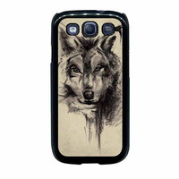 abstract wolf tattoo samsung galaxy s3 s4 cases