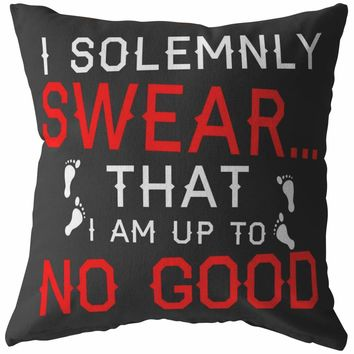 Funny Pillows I Solemnly Swear That I Am Up To No Good