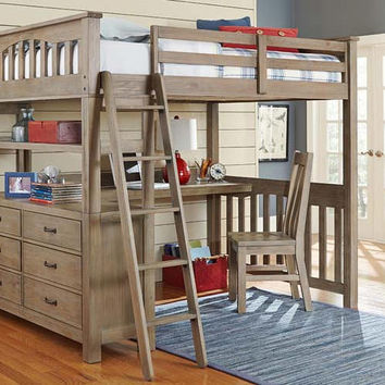 Crosspointe Full Size Study Loft Bed
