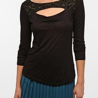 Pins and Needles Lace Peek-A-Boo Top