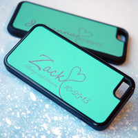 Matching Couples Phone Cases for iPhone 6, iPhone 6s, iPhone 5s, iPhone 6 Plus, 6s Plus, 5, 5c Case, Mint + Silver Always + Forever