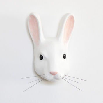 White rabbit from Alice in wonderland, Faux Taxidermy bunny