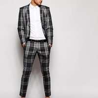 Selected Check Trouser