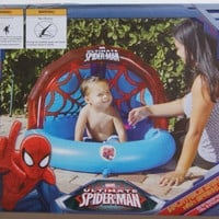Spiderman Inflatable Baby Pool with Sprinkler