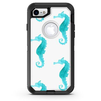 Blue Watercolor Seahorses - iPhone 7 or 8 OtterBox Case & Skin Kits