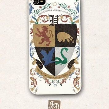 Iphone 4 / 4s hard or rubber case Hogwarts School of by FeerieDoll