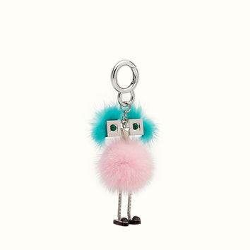 Charm in pink and light blue fur - CHICK BAG CHARM | Fendi | Fendi Online Store