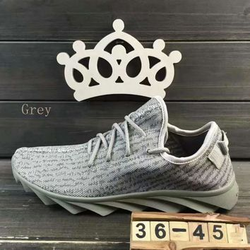 """""""ADIDAS""""Fashion running Classic coconut shoes mesh couples sports shoes Grey"""