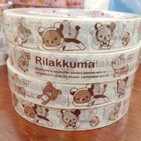 Rilakkuma bear deco tape stickers - Wearing Cow costume DT4123