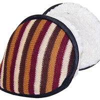 Best Winter Hats Adult Sherpa Lined Behind Head Ear Muffs (One Size) - Brown/Beige/Maroon/Burnt Orange Striped
