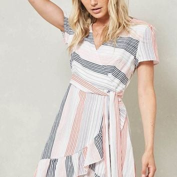 Tulip Hem Striped Dress
