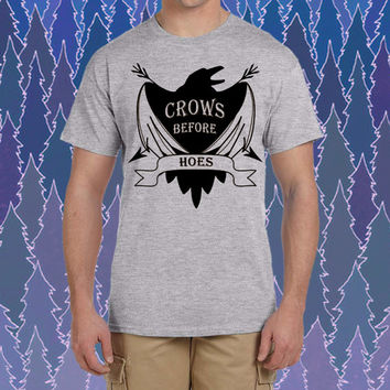 Crows Before Hoes Game of Thrones Nights logo design for tshirt