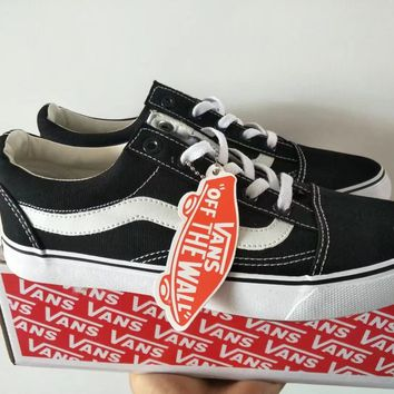 """VANS"" Classic Style Stripe Unisex Casual Low Help Plate Shoes Couple Shoes"