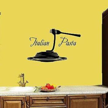 Wall Stickers Vinyl Decal Italian Pasta Restaurant Italy Decor For Kitchen Unique Gift (z1724)