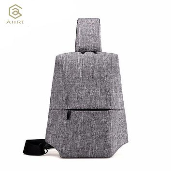 Soft Waterproof High Capacity Chest Bag For Men Female Canvas Sling Bag Casual Cross body Bags For Short Trip