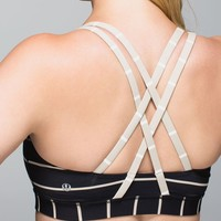 Lululemon Energy Bra - Cayman Stripe Black Mojave Tan / Cayman Stripe Mojave Tan Angel Wing - lulu fanatics
