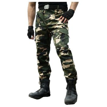 Autumn New Men's cargo Pants Military clothing Tactical Pant army green knee pads  Camouflage army style camo workwear Trousers