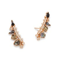 Clarissa Rose Gold Ear Climbers in Gray | Kendra Scott