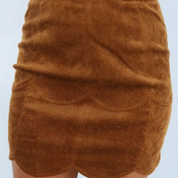 What A Catch Skirt: Chestnut