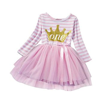 Winter Baby Girl Princess Dress Baptism Tutu Dresses Brand Girls Clothes Kids Toddler Clothing For Girl 1st Birthday Outfits