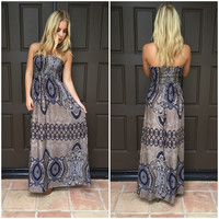 Bi Coastal Paisley Maxi Dress