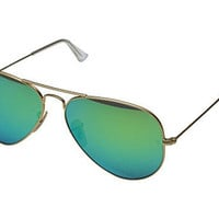 Ray-Ban RB3025 Aviator Polarized Flash Lenses 58mm