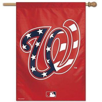 "WASHINGTON NATIONALS AMERICAN FLAG ""W"" 28""X40"" BANNER FLAG BRAND NEW WINCRAFT"