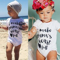 Newborn Baby Boy Girls Romper Jumpsuit Clothes Outfits baby rompers Overalls for children creepers