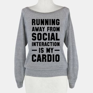Running Away From Social Interaction Is My Cardio