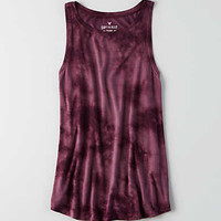 Soft & Sexy High Neck Tank, Raisin Wine